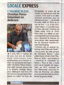 Article du Dauphiné Libéré du 26 septembre 2016